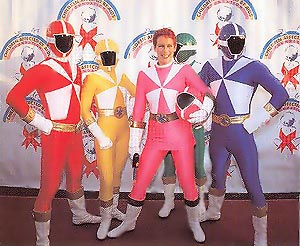 Curtis at CAAF Dream Halloween with fellow Power Rangers
